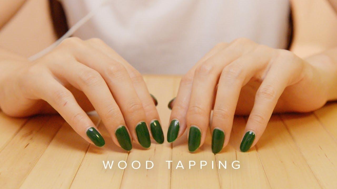 ASMR Wood Surface Tapping & Scratching (No Talking)