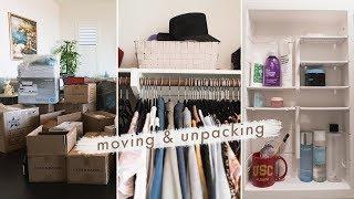 Moving & Unpacking | New Closet Tour + Bathroom Tour ✨