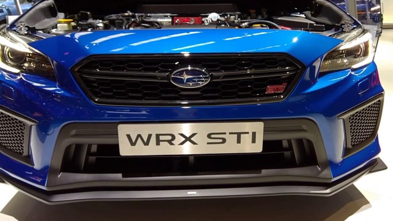 Iaa 2017 Subaru Wrx Sti 2018 Walkaround Exterieur Engine Youtube