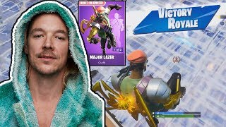 Diplo Plays Fortnite in new Major Lazer Skin + Battle Royale Gameplay Highlights