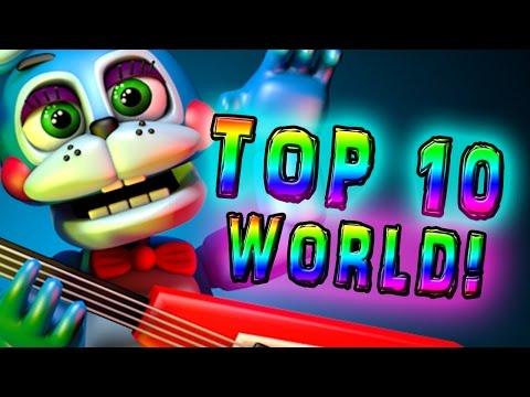 FNAF WORLD || FNAF WORLD TOP 10 CHARACTERS || TOP 10 FNAF WORLD