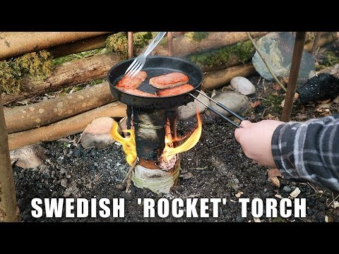 Swedish 'ROCKET' Torch - How to make and Cook on one!