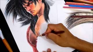 Goku 4 realista speed drawing