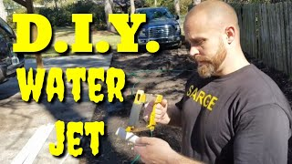 DIY! PVC ..WATER JET! to unclog a french drain!