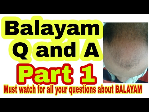 100% working methods for hair regrowth. BALAYAM Q and A.#tannudada