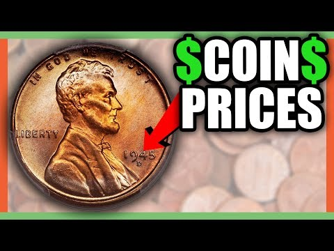 HOW MUCH IS A 1945 PENNY WORTH? WHEAT PENNIES VALUES!! - YouTube