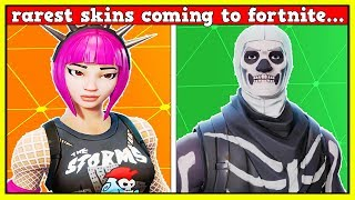 10 RARE SKINS COMING TO FORTNITE! | EPIC TOLD ME IN SECRET! (NO WAY!)