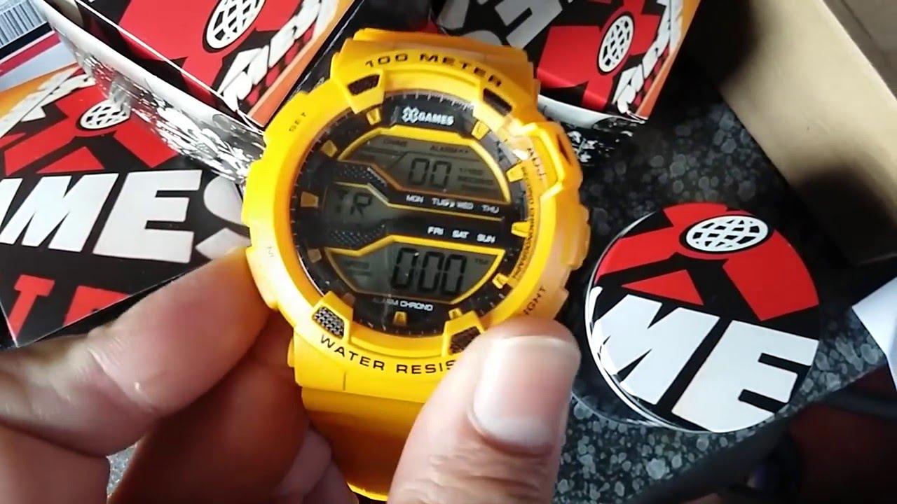 50edb553a6573 Relógio Masculino X-Games XMPPD291 BXYX Amarelo Digital - YouTube