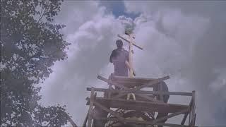 Освящение и установка креста в селе Николо-Погост (Сентябрь 2018)