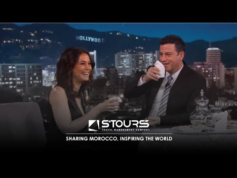 Emmanuelle Chriqui Brings Jimmy Moroccan Mint Tea  Jimmy Kimmel Live