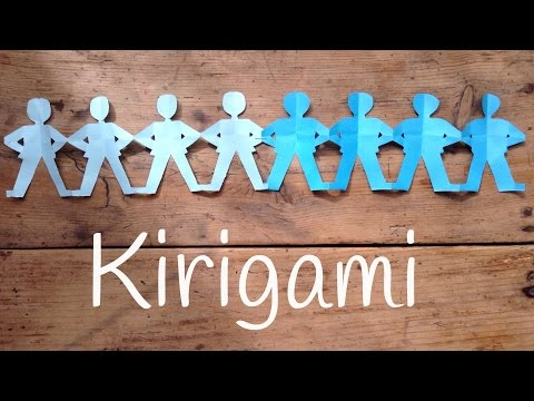Guirnaldas de papel de hombrecitos | Kirigami fácil para niños