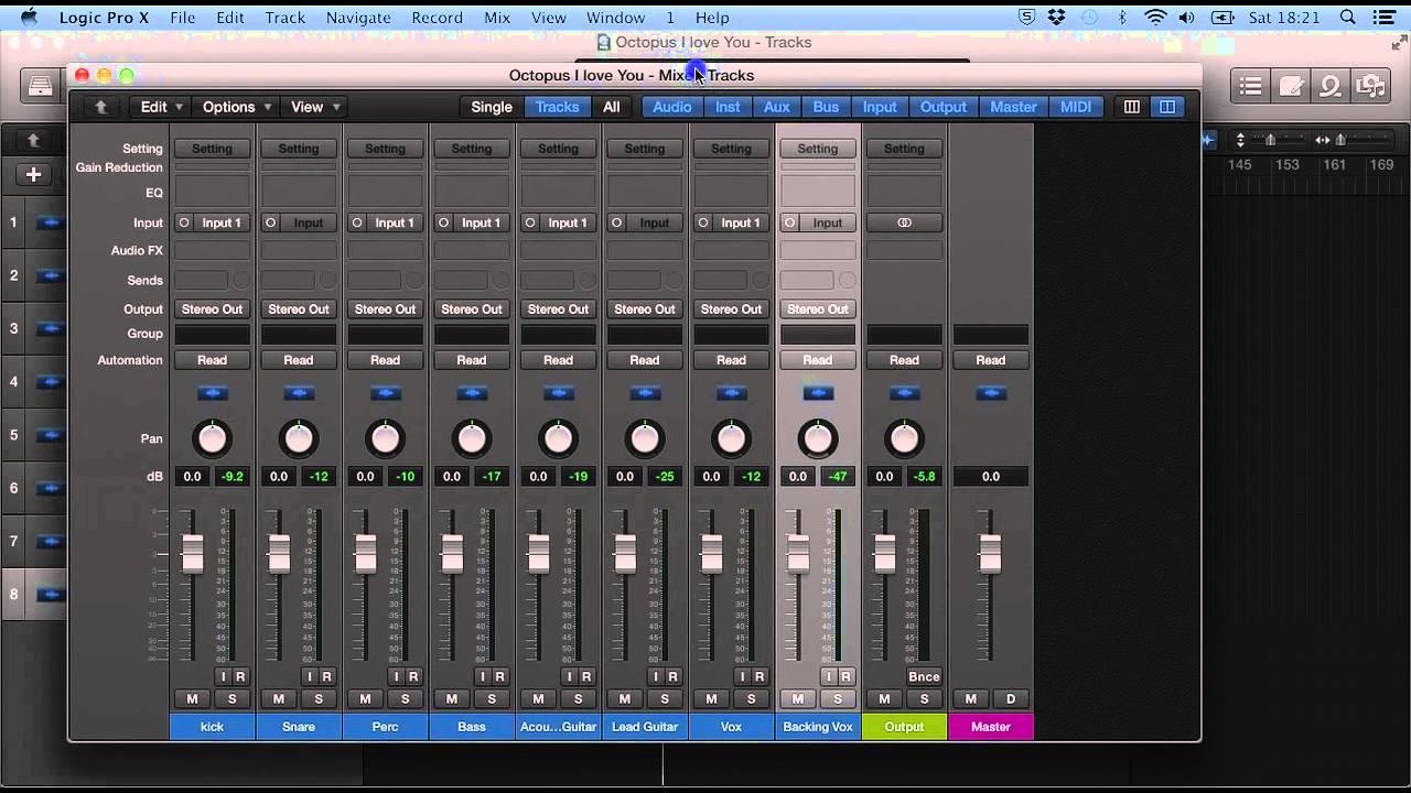 Logic Pro X Tutorial 12 The Mixer Window Youtube