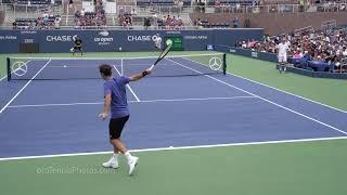 Roger Federer v Two Guys, 2018 US Open practice, 4K
