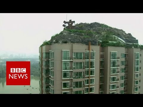 ROOFTOP 'ROCK VILLA' ON BEIJING'S SKYLINE - BBC NEWS