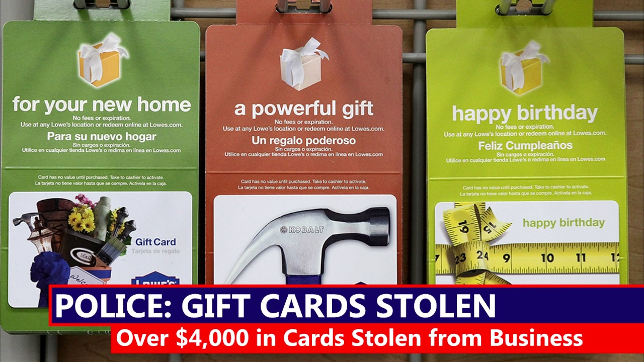 Police Searching for Stolen Gift Cards - YouTube