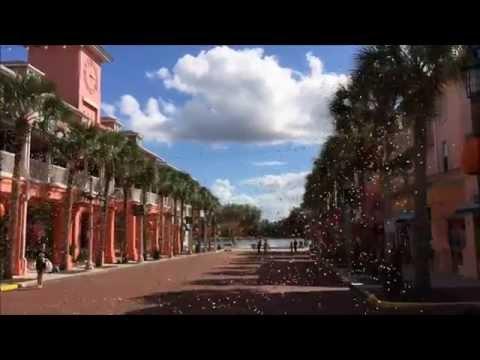 Oktoberfest Leaf Fall Machines First Main Street Test Run @ Celebration Town Florida