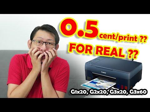 Canon G3060 Unboxing, Setup, Print Quality Test, Up to 7700 print-New Series G1x20 G2x20 G3x20 G3x60