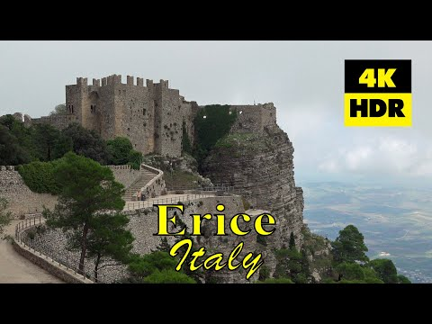 Erice and the west coast of Sicily Italy in 4K U R