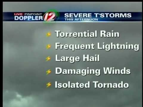 Live Pinpoint Doppler Weather Alert Cut In