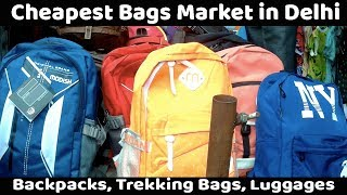 VikVlogs #12💼 | Biggest Men's, Women's and Kids Bags Market | Backpack's, Luggage Wholesale Market|