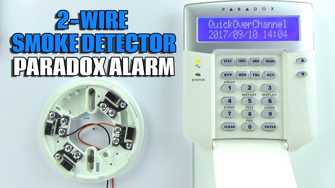2 Wire Smoke Detector Wiring Paradox EVO Alarm Panel - YouTube