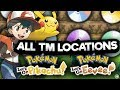 ALL TM LOCATIONS in POKEMON LETS GO PIKACHU AND EEVEE!