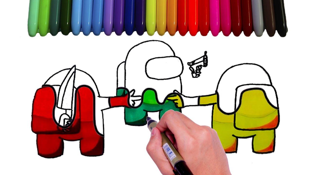 Download How to Draw Impostor vs Crewmate | Como dibujar Among Us
