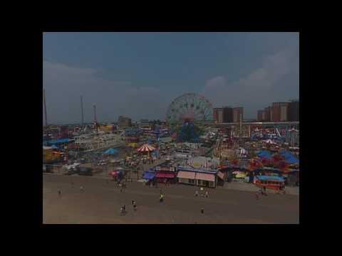 DJI Phantom 4 drone fun at Coney Island