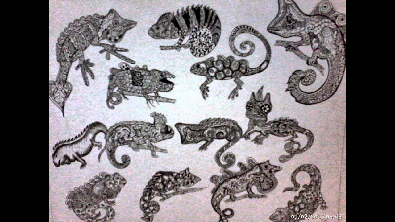 Sketsa Gambar Ragam Hias Fauna