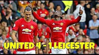 Manchester United Vs Leicester City 4-1 // All Goals & Highlights