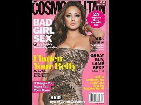 MILA KUNIS SEXY COSMOPOLITAN COVER MAKEUP