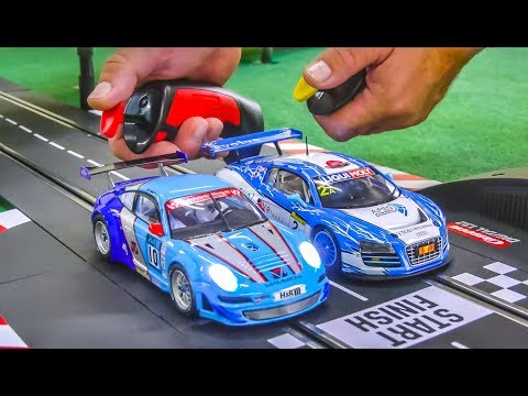 Awesome Carrera Cars get unboxed and tested! Porsche! Audi R8!