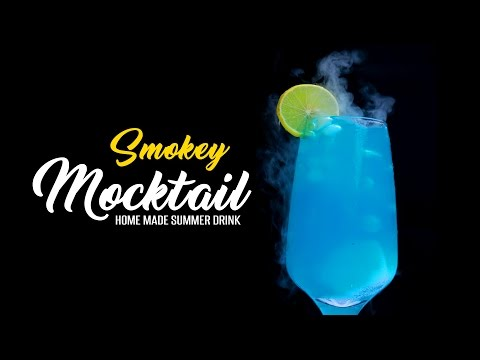 Magical Smokey Mocktail | Amazing Smoking Drink with Dry Ice | Online Kitchen | WOW Recipes