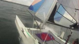 Catamaran F18 fun sailing HD