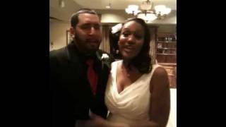 Jerisha and Russel after their wedding
