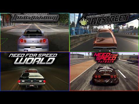 Drag Races In NFS Games - 4k