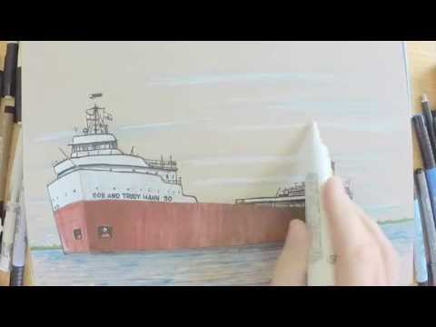 Drawing Demo - Ore Freighter