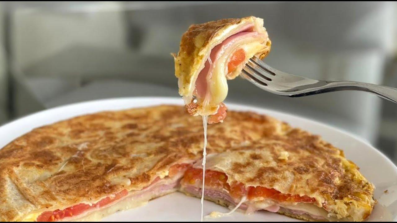 Una rica tortilla pizzera en 5 minutos!