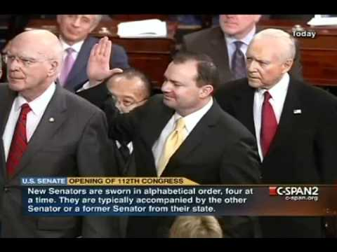 Senators Swear to Support and Defend the Constitution - Oath of Office