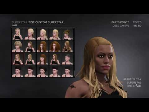 WWE 2k17: Creating Kerry Diaz