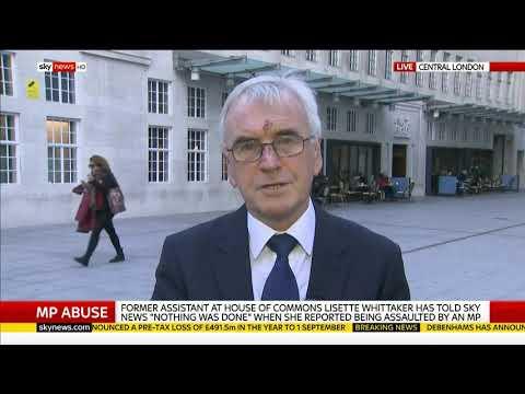 John McDonnell defends John Bercow over bullying row