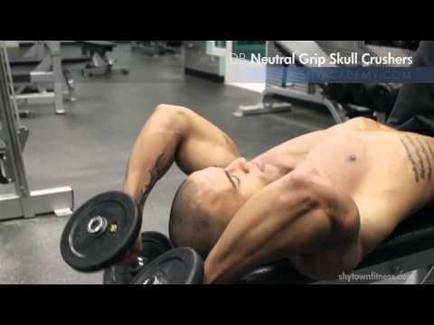 TRICEPS - DB Neutral Grip Skull Crushers