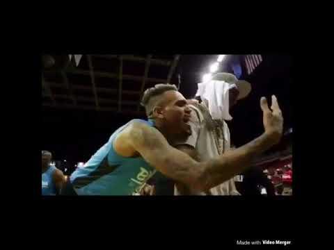 Chris Brown, Trey Songz At Charity Basketball Game