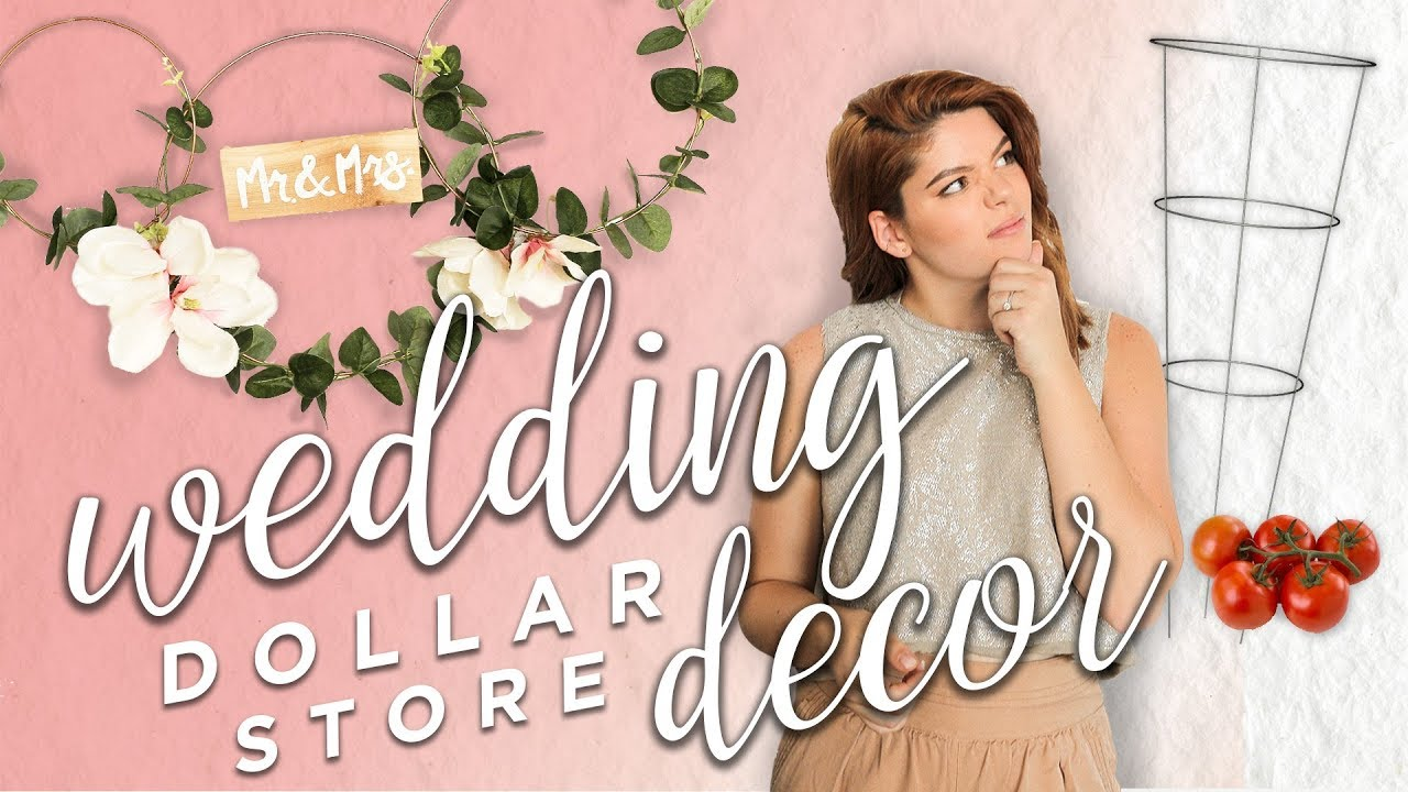 DOLLAR STORE WEDDING DECOR (friggin\' gorg) - YouTube