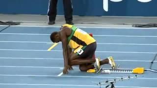 أسرع رجل بالعالم أوسين بولت سباق200م بكوريا الجنوبية 2011