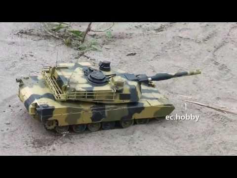 1/24 Radio Control M1A2 Abrams RC Battle Tank Military Vehicles Airsoft Sound