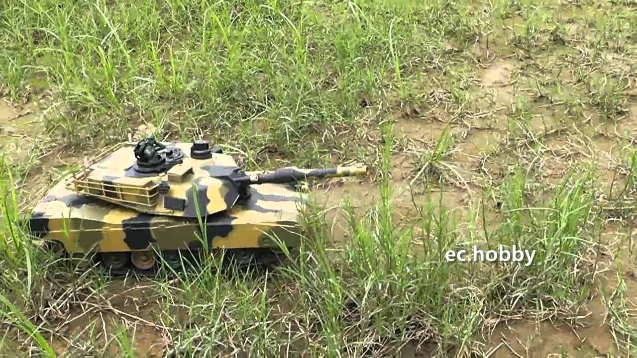 "M1A2 Abrams 1:24 US Battle Tank RC 16/"" Airsoft //Awesome Sound Military"