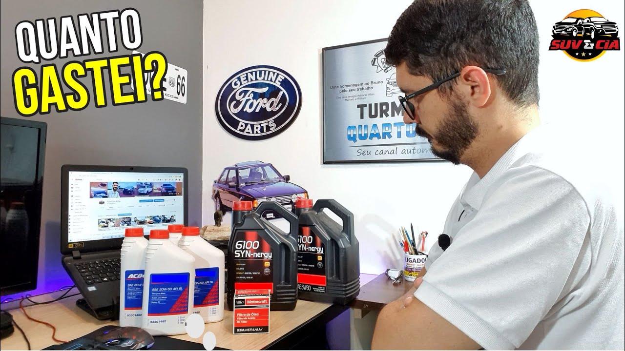 Comprei óleo de motor pro meu EcoSport.   Quanto Gastei? Fique atento com a especificação correta!