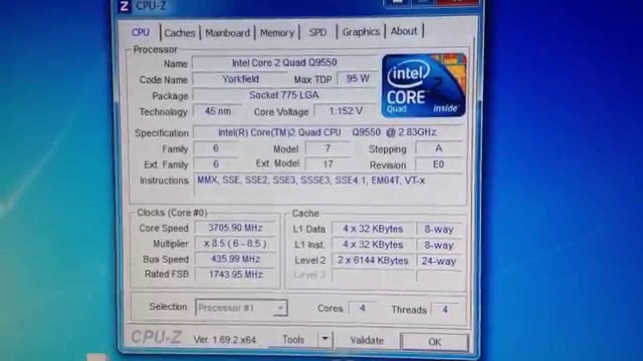 INTEL CORE 2 QUAD CPU Q9550 WINDOWS 8 DRIVER DOWNLOAD