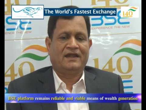 Mr. Ashok Kumar Jain, Says about BSE